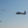 Lot szybowcem - start za wyciągarką