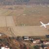 Lot szybowcem - lotnisko z lotu ptaka
